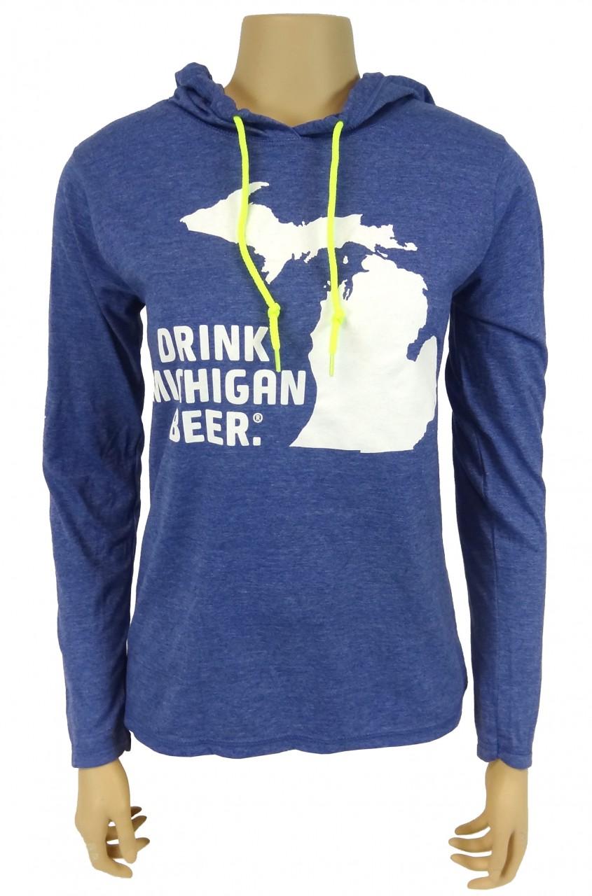 T Shirt Women 39 S Lightweight Long Sleeve Hooded Michigan
