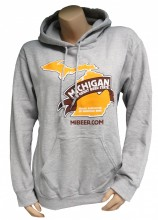 8.0 oz. heavy weight 50/50 cotton/poly hoodie with Michigan The Great Beer State Logo in full color on front.  Double-lined hood, rib knit cuffs and waistband with spandex and front pouch pocket.