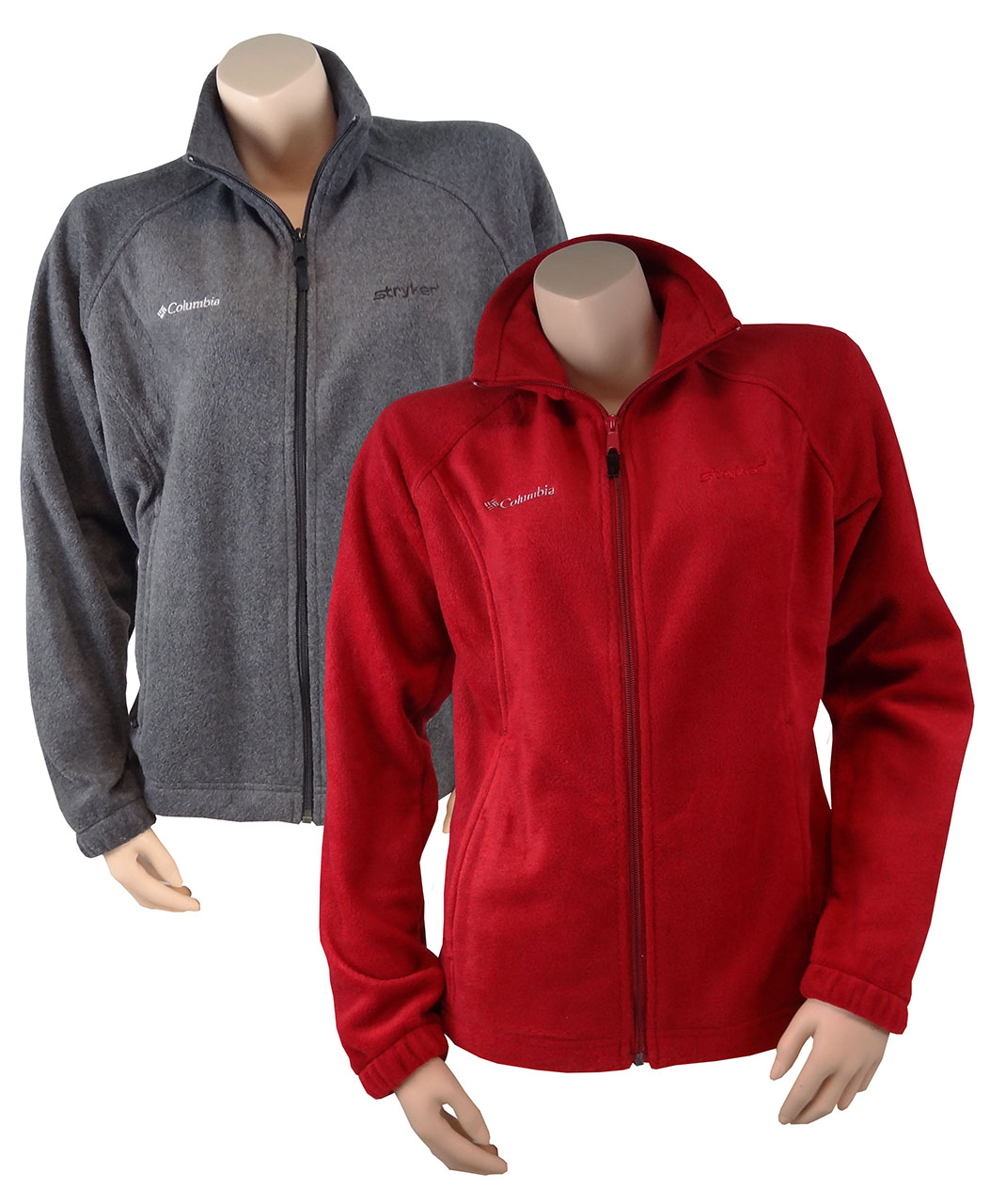 Women'S Red Fleece Jacket - Coat Nj