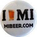 I Beer MI pin, 1.25