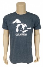 Great Lakes. Great Beer! Show your love for Old Nation and the Great Lakes State with this 4.5 oz., pre-shrunk 100% ringspun cotton, T-Shirt.  Fresh!