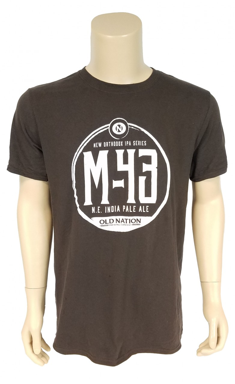 M43 T-SHIRT, CHOCOLATE - Old Nation Brewery